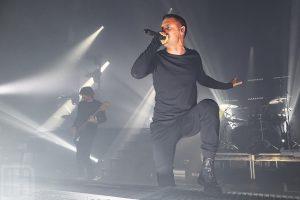 Parkway Drive singer performing in Newcastle