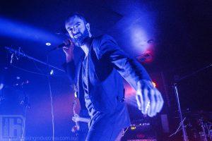 Ian Kenny of Karnivool on stage in Newcastle Australia