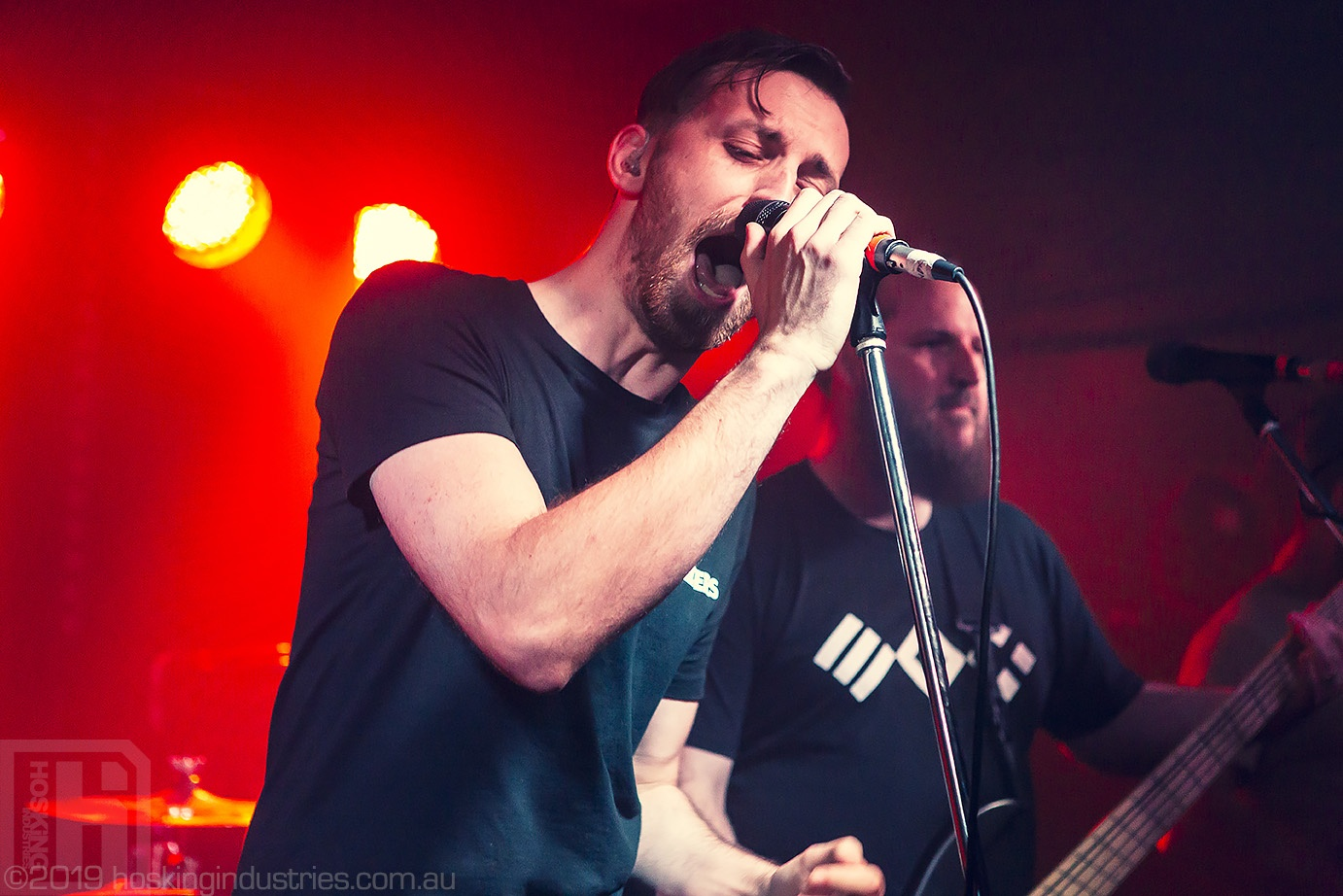 James Strezov of Take My Soul on stage in Newcastle