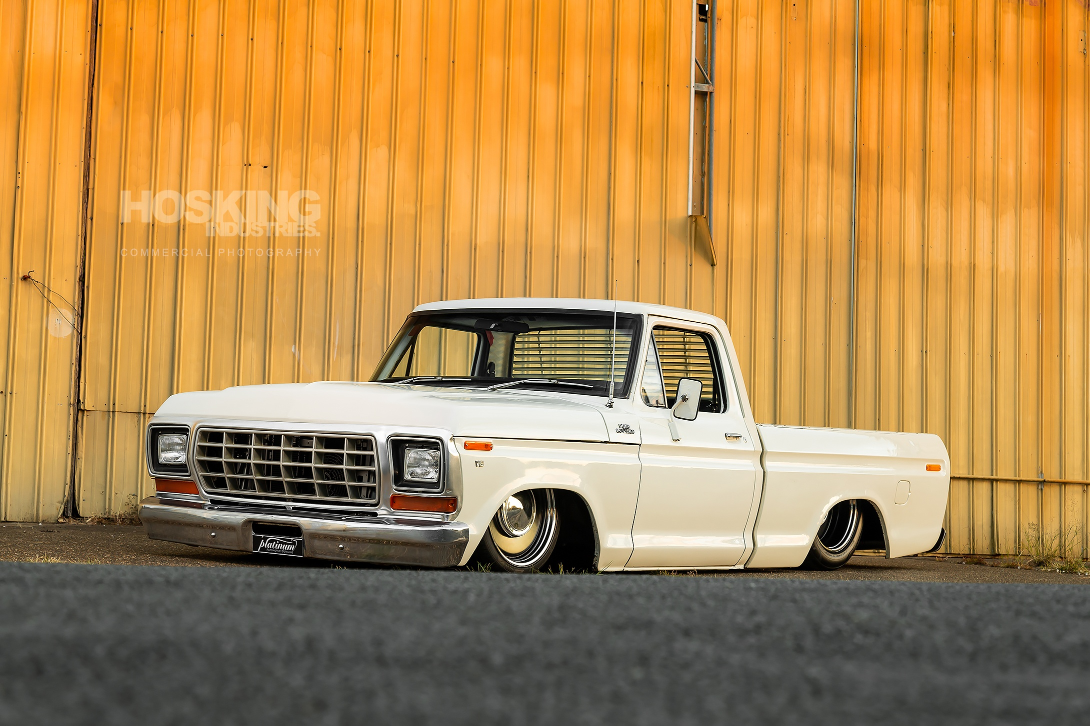 Down Town Kustoms' bagged and blown Ford F100