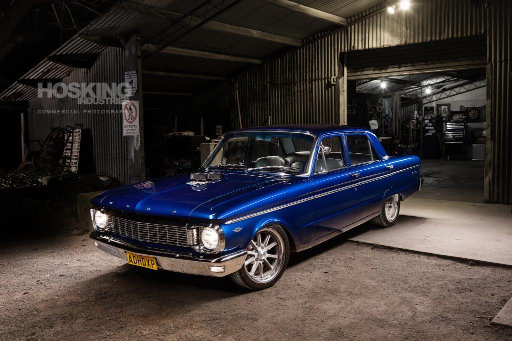 Manuel's blue Ford XP Falcon sedan