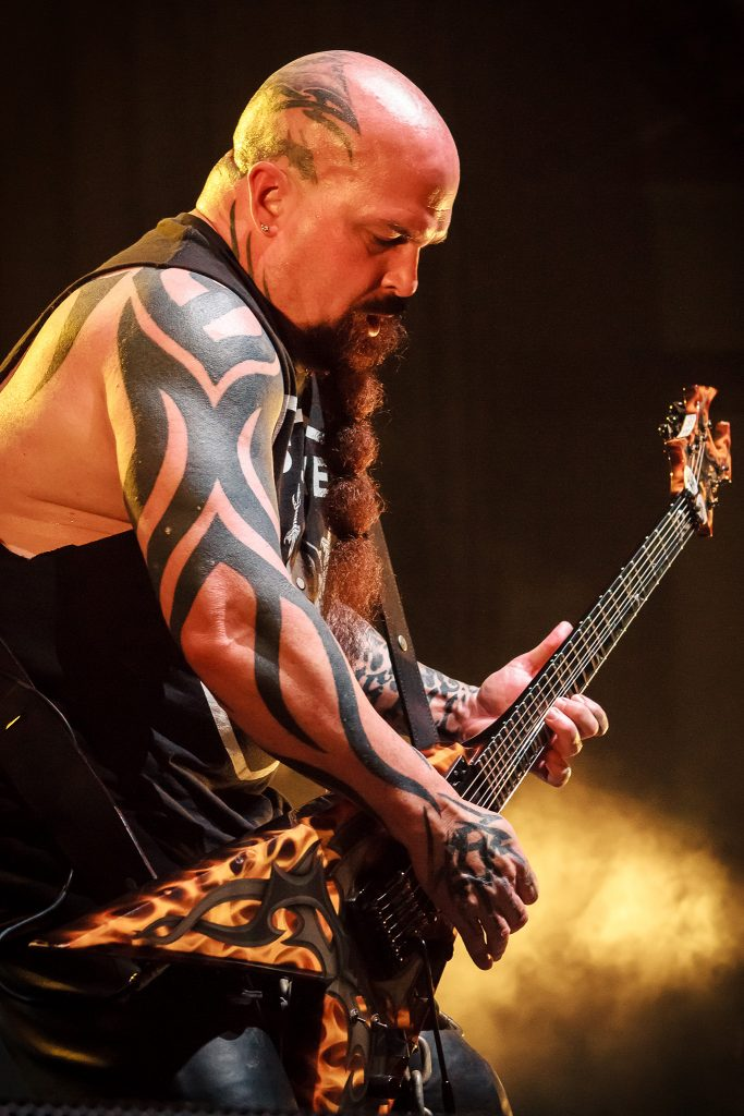 Kerry King of Slayer on stage in Sydney