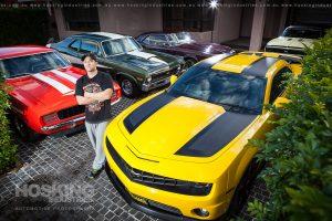 Martin Hermida with car collection