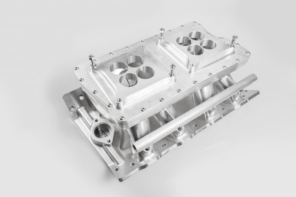 Alloy intake manifold product image for Lowe Fabrications
