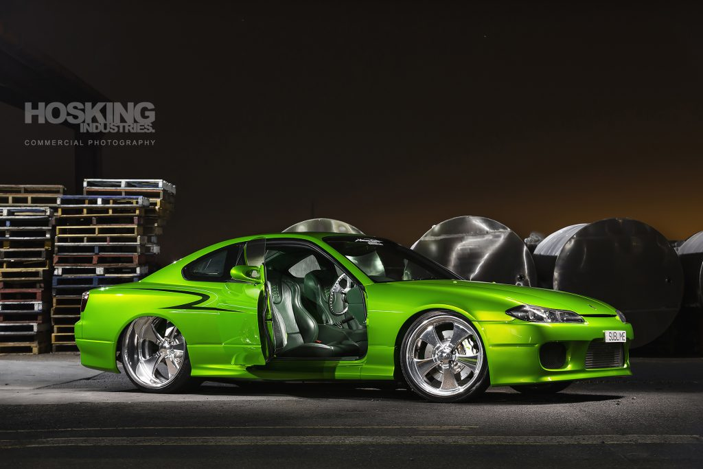 Mark's SUBLIME candy green Nissan S15 Silvia