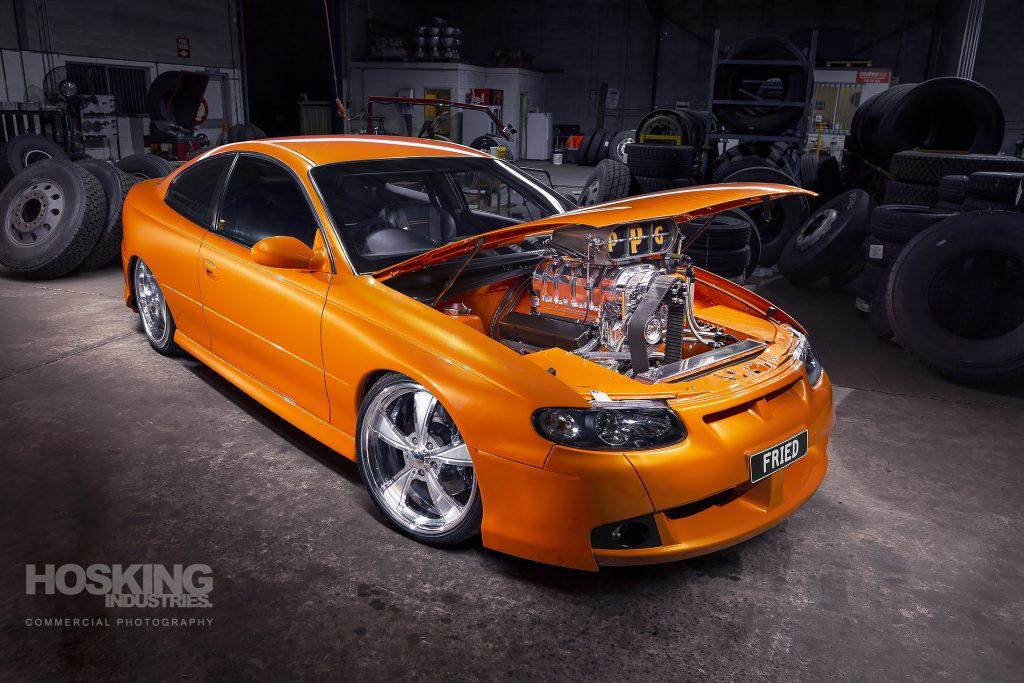 Owen Rice's Holden CV8 Monaro burnout car