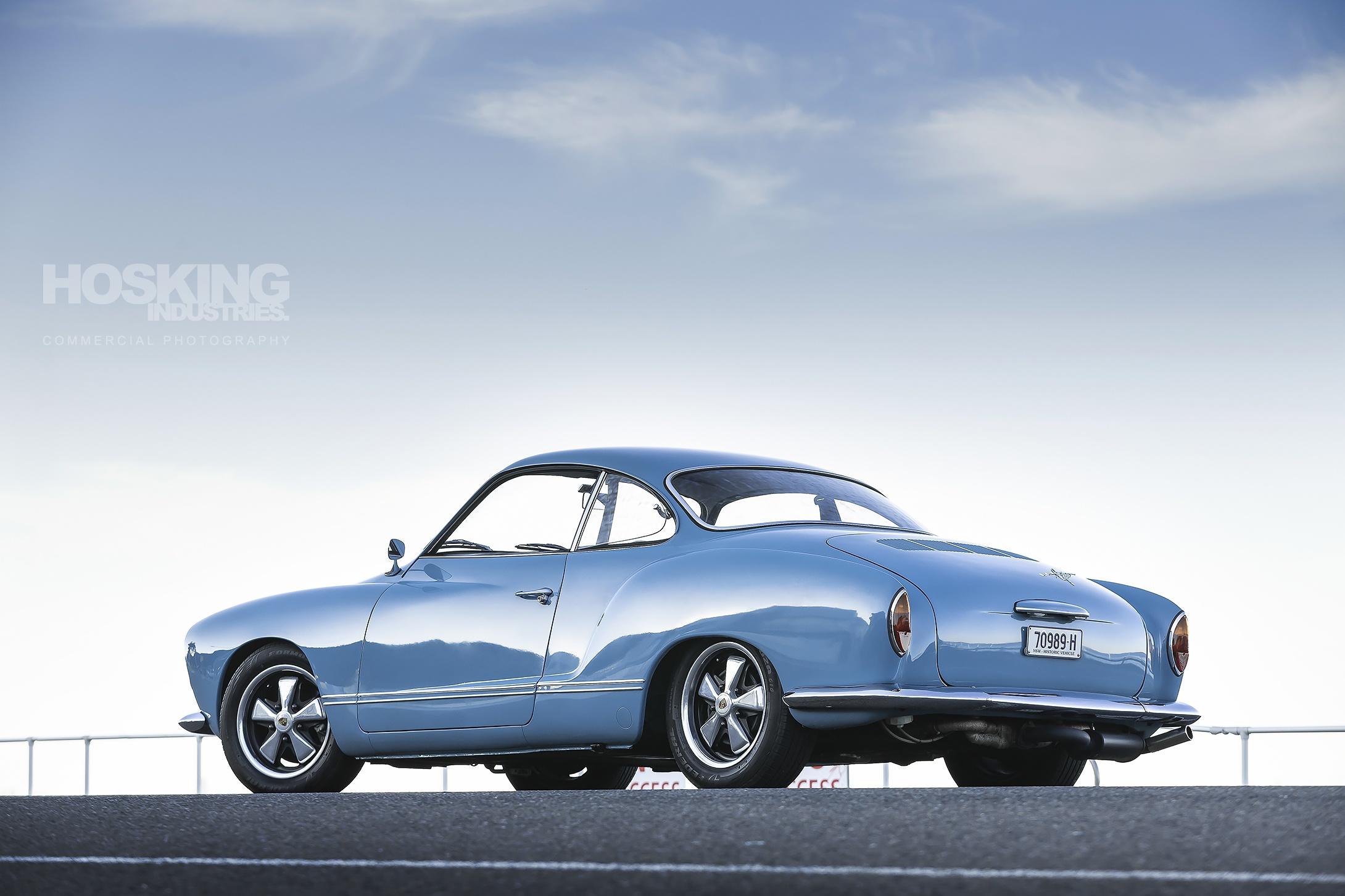 Fabion's powder blue VW Karmann Ghia