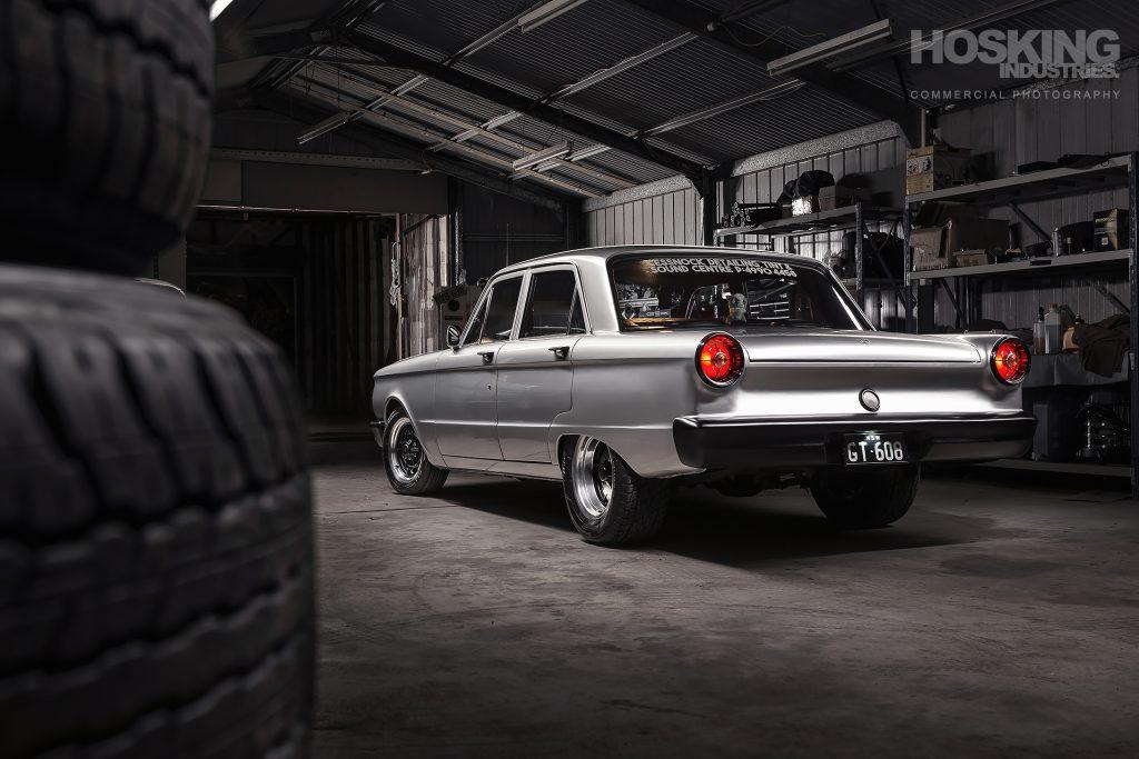 Gary Taylor's silver Ford XP sedan