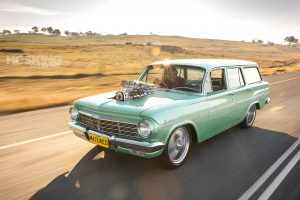 Joe's blown Holden EH wagon burnout car