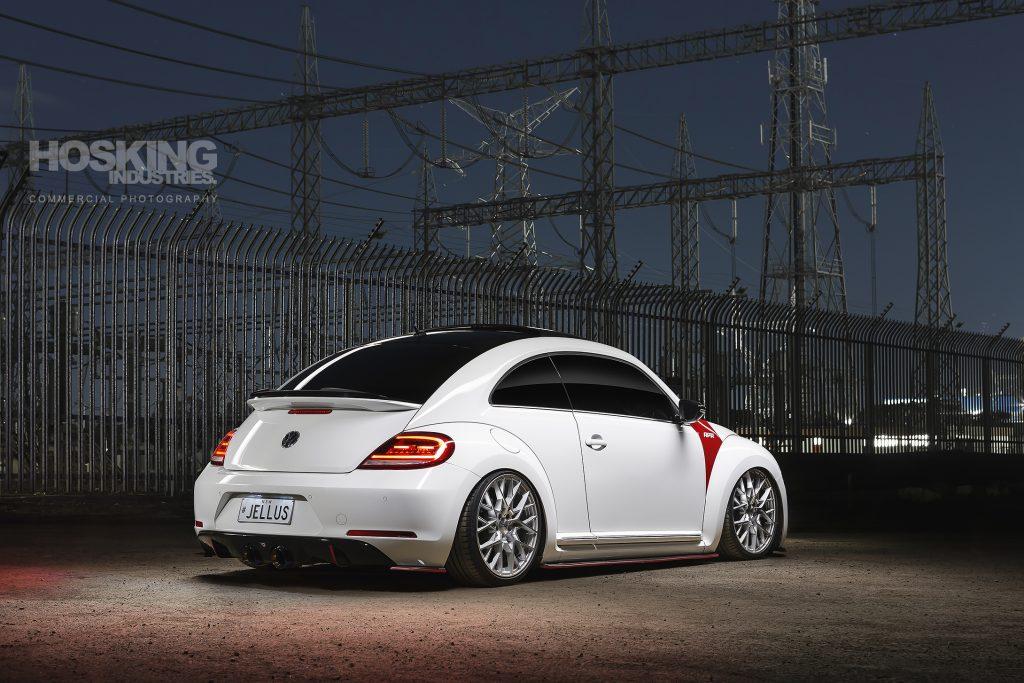Lexus' white airbagged VW Beetle