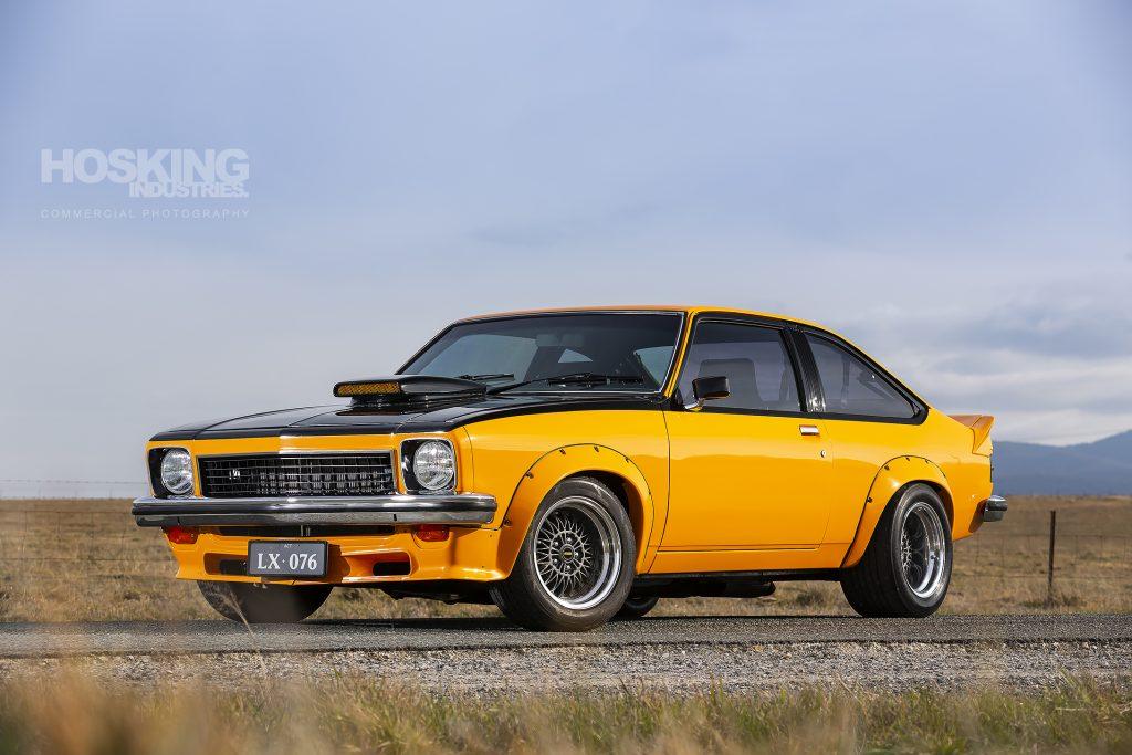 Roc Cecere's orange Holden LX Torana hatch