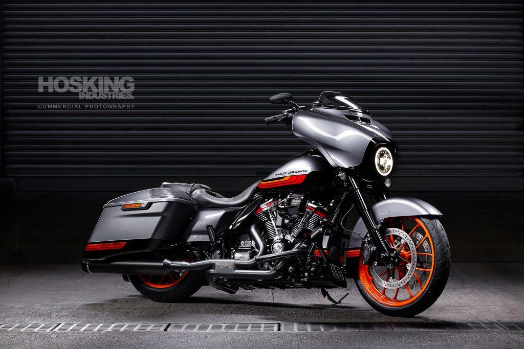 Harley Davidson bagger style motorcycle