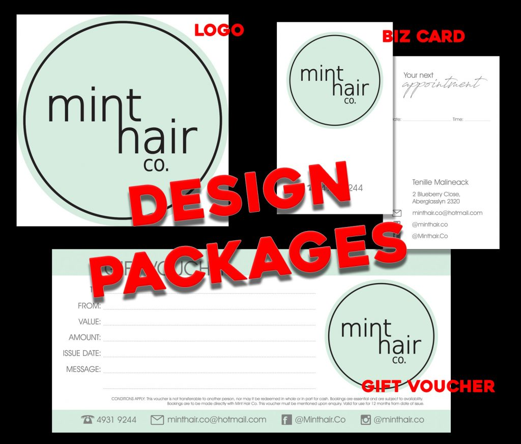 Mint Hair Co Logo and artwork packages