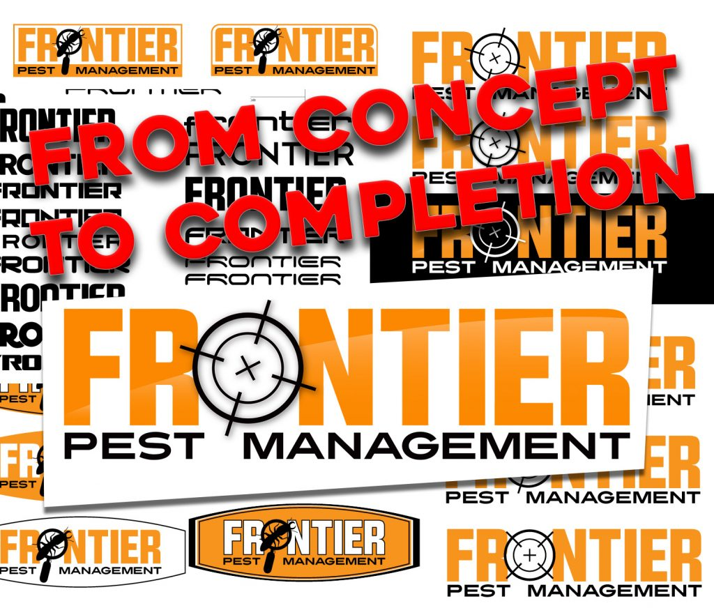 Frontier Pest Management logo design