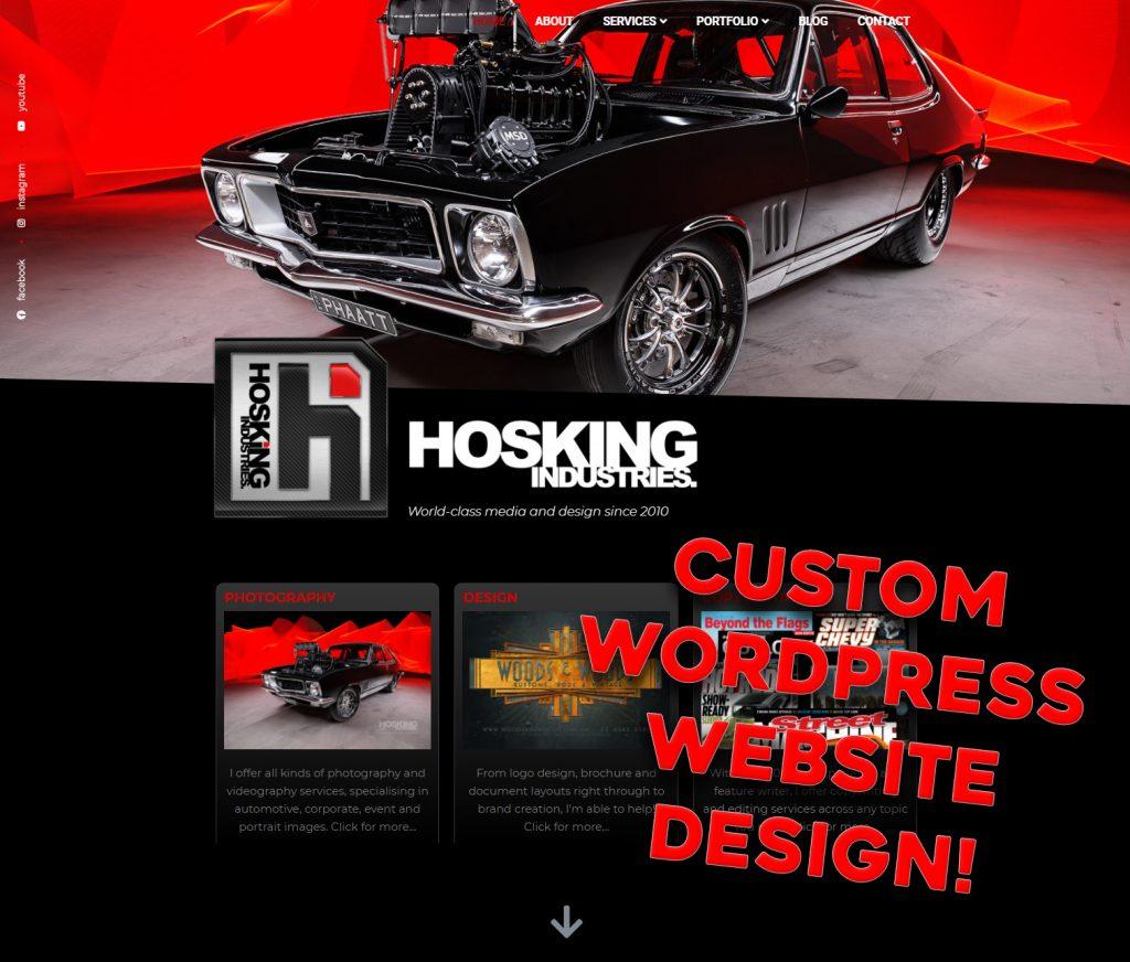 Custom WordPress website design services