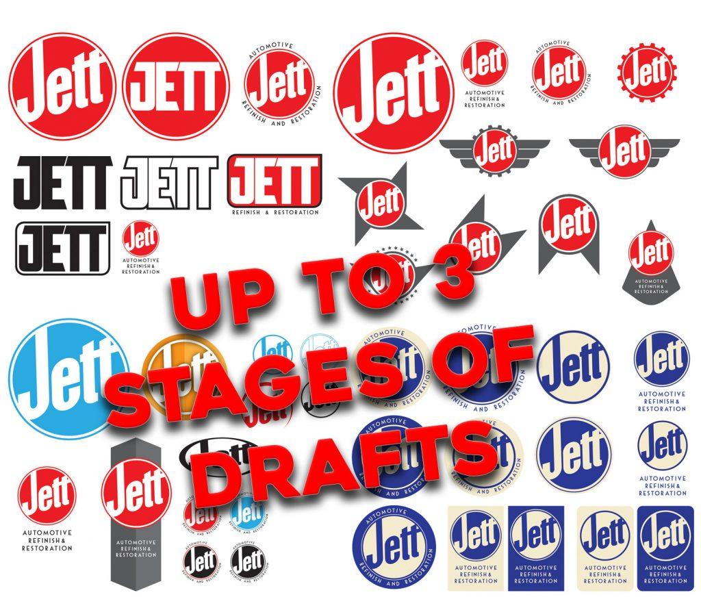 Jett Refinish & Restoration logo design process