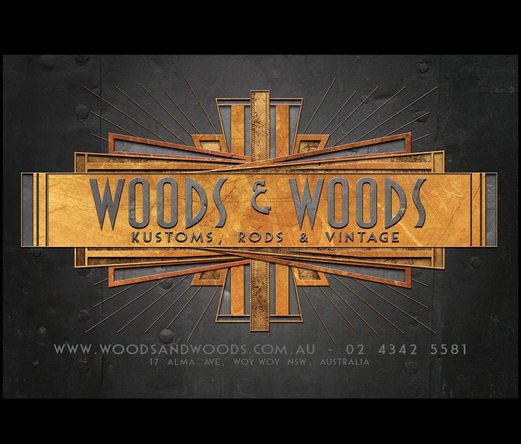 Woods & Woods Kustoms logo art