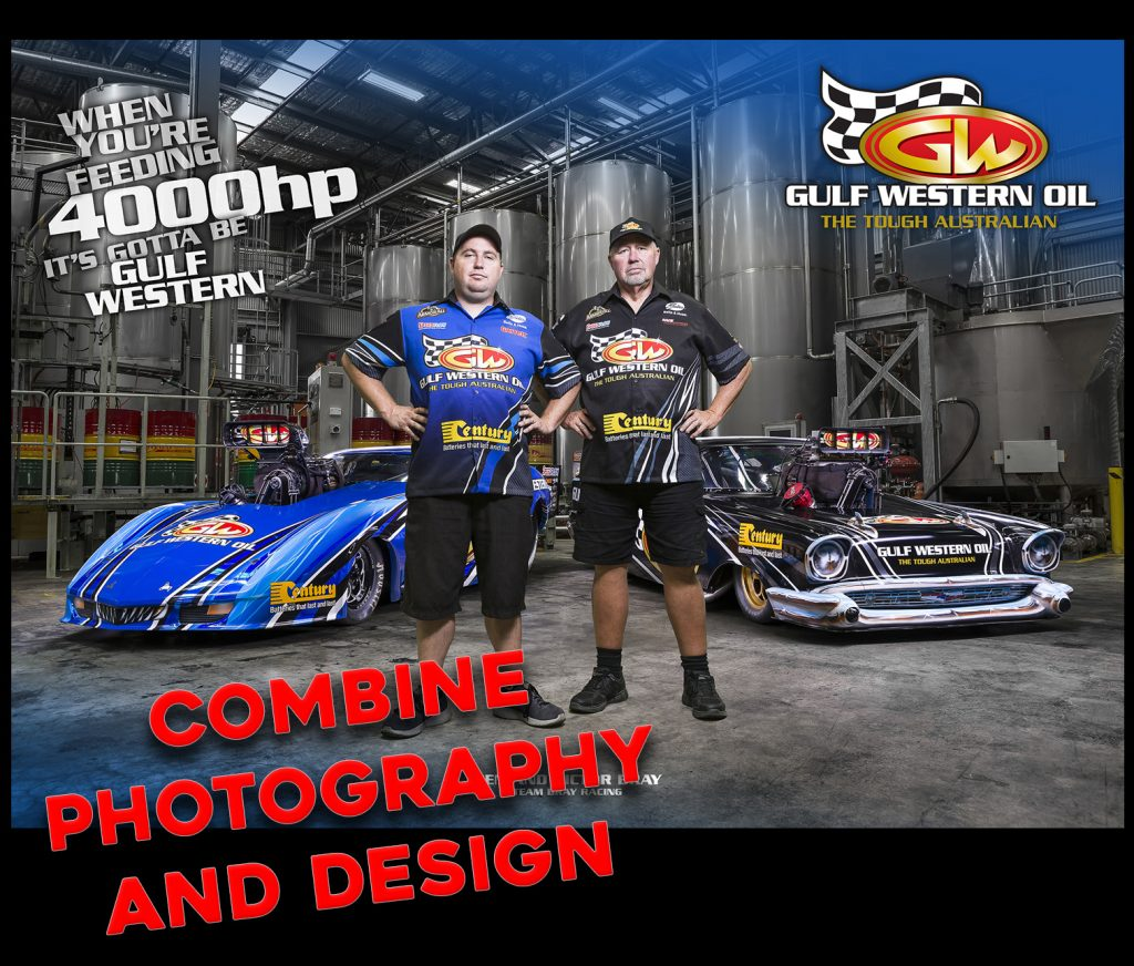 Gulf Western Team Bray Racing poster design